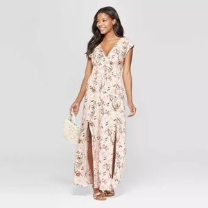 Sleeveless V-Neck Smocked Waist Maxi Dress